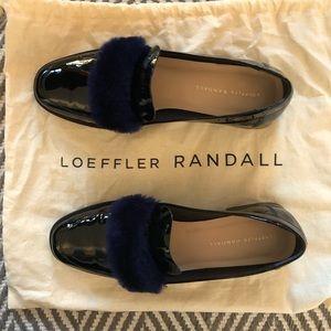 Loefller Randal Greta Fur-Trim Loafer